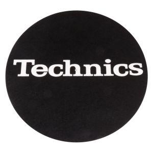245087 Technis Slipmat Black/White Logo (Paar) - Perspektive
