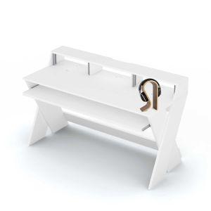 245172 Glorious Sound Desk Pro White + Headphone - Perspektive