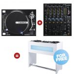 Reloop Hybrid Turn - Table Set white - Perspektive
