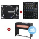 Reloop Hybrid Turn - Table Set black - Perspektive