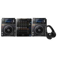 Pioneer DJ XDJ-1000 MK2-PACK 2x XDJ-1000MK2 + DJM-750 MK2 + HDJ-X7-K