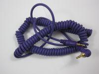 Reloop Kopfhörer Spiral-Kabel purple 3,5 mm Klinke /3,5 mm Klinke gewinkelt stereo (1,15 - 4,00 m)