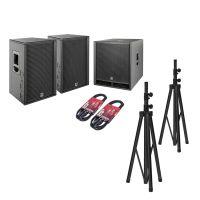 HK Audio PR:O D2 Set 2x PR:O 112 FD2 + 1x PR:O 118 Sub D2 + Kabel + Stative