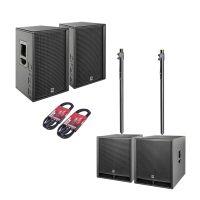 HK Audio PR:O D2 Set 2x PR:O 112 FD2 + 2x PR:O 118 Sub D2 + Kabel + Stative