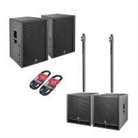 HK Audio PR:O D2 Set 2x PR:O 115 FD2 + 2x PR:O 118 Sub D2 + Kabel + Stative