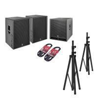 HK Audio PR:O D2 Set 2x PR:O 115 FD2 + 1x PR:O 118 Sub D2 + Kabel + Stative