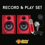 Monkey Banana Record & Play Set Rot