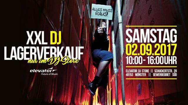 Elevator XXL DJ Lagerverkauf 2017