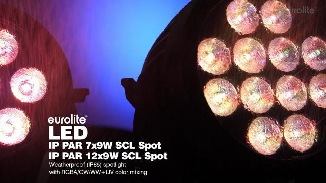 EUROLITE LED IP PAR 7x9W SCL Spot / EUROLITE LED IP PAR 12x9W SCL Spot