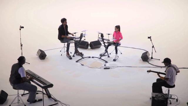 Enjoy school girl drummer's challenge