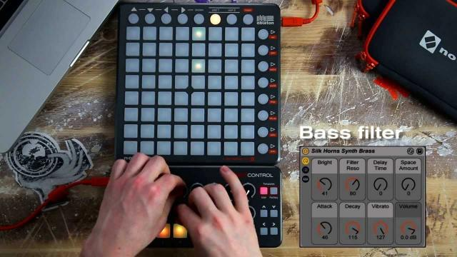 Novation // Launchpad S Control Pack ft Ableton Live Lite performance.