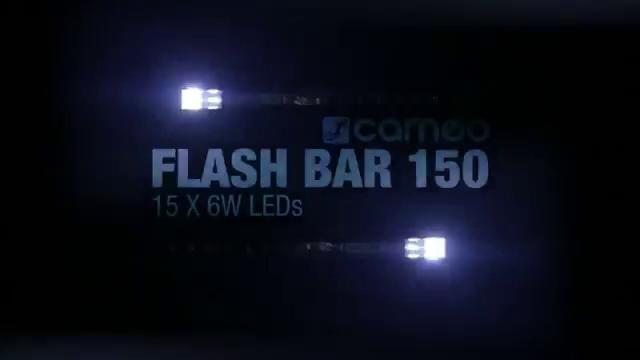Cameo FLASH BAR 150 - 3-in-1 Strobe, Chase and Blinder Effect Fixture