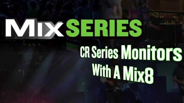Mackie CR Series Monitors - Set up with Mix8 mixer