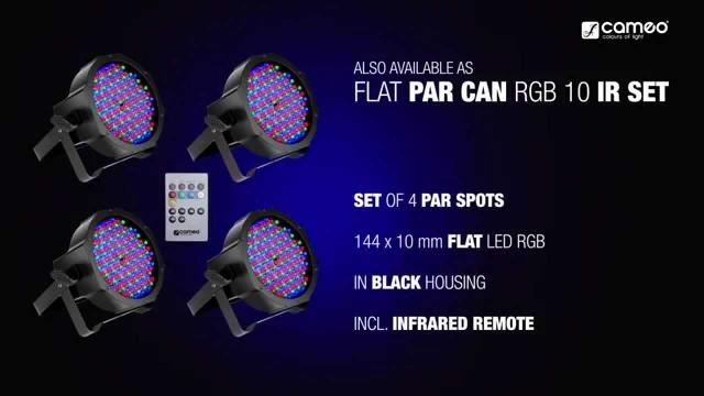 Cameo FLAT PAR CAN RGB 10 - 144 x 10 mm FLAT LED RGB PAR Spot light in black housing