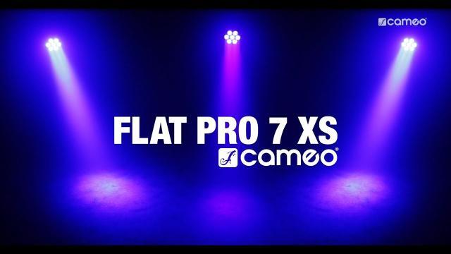 Cameo FLAT PRO 7 XS - Compact, flat 7 x 8 Watt Quad LED PAR light