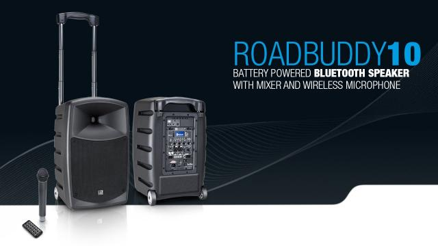 LD Systems Roadbuddy 10 - Battery-Powered Bluetooth Speaker with Mixer and Wireless Microphone