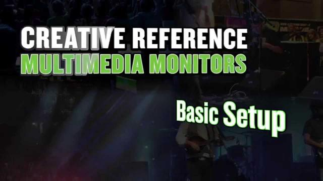 Mackie CR Series Monitors - Basic setup