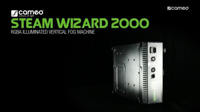 Cameo Steam Wizard 2000 - RGBA Illuminated Vertical Fog Machine