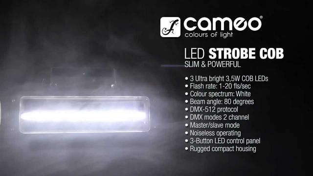 Cameo Light STROBE1 - HIGH QUALITY STROBE with 3 x 3.5 W WHITE COB LEDS