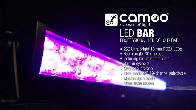 Cameo Lights BAR - 252 x 10 mm LED RGBA Color Bar