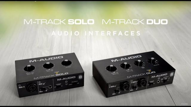 M-Audio || Introducing the M Track Solo & Duo Audio Interfaces