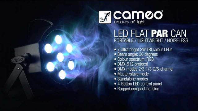 Cameo Light FLAT PAR CAN - 7 x 3W TRI Colour LED PAR CAN RGB