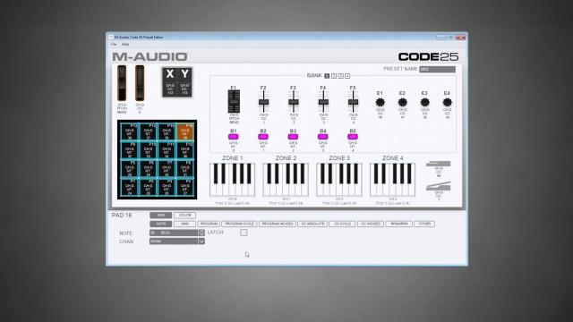 M-Audio || Software Preset Editor // Code Series Keyboards