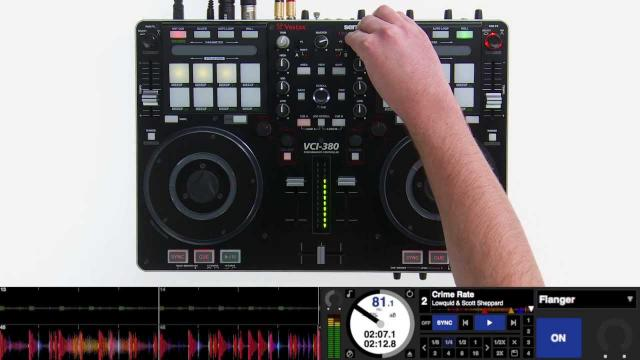 Serato DJ with the Vestax VCI-380