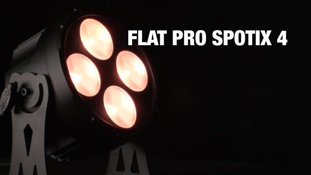 Cameo FLAT PRO SPOTIX 4 - 4 x 30 W COB LED TRI Colour Spot PAR Light in black housing