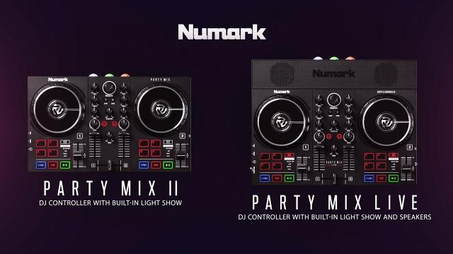 Numark Party Mix Live and Party Mix II | DJ Controllers with Built-In Light Show