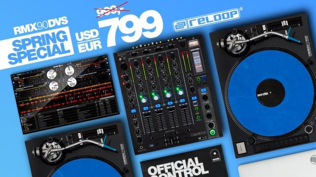 Reloop RMX-90 DVS -  Performance Club Mixer for Serato DJ Pro (Spring Special)