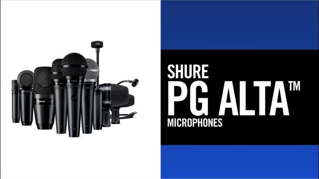 Shure PG ALTA wired microphones [EN version]