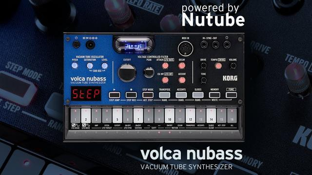 KORG volca nubass: Delivering huge bass via a real vacuum tube
