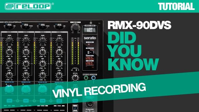 Reloop RMX-90 DVS DJ Club Mixer: How To Record Vinyl – Did You Know? (Tutorial)
