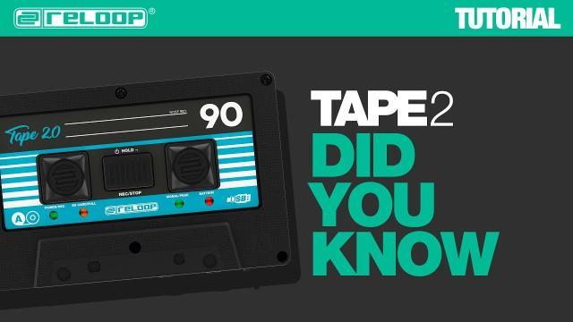Reloop TAPE 2 digital Mixtape for DJs - Did You Know? (Tutorial)