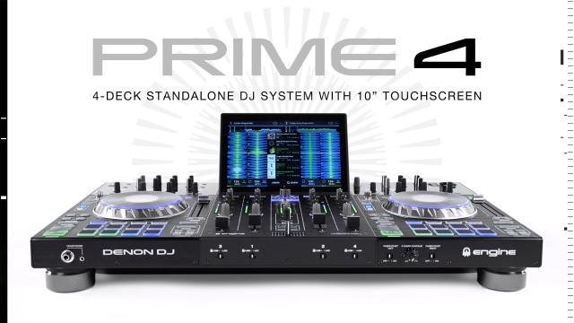 Denon DJ PRIME 4 |  4-Deck Standalone DJ Controller with 10.1