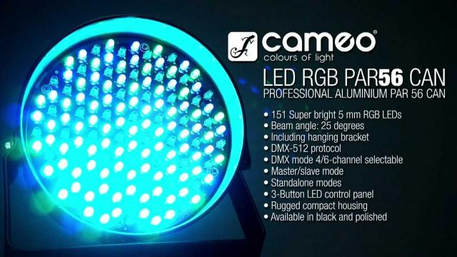 Cameo Light PAR 56 CAN - 151 x 5 mm LED PAR Can RGB