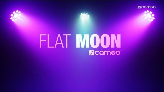 Cameo FLAT MOON - Flat 3-in-1 multi-effect RGB+UV PAR-light with strobe