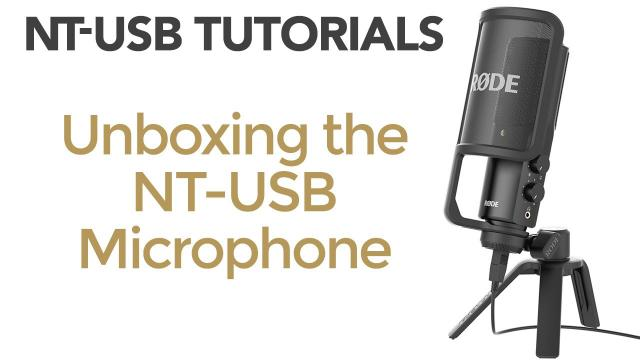 Unboxing the RØDE NT-USB Microphone