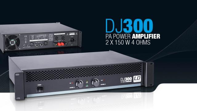 LD Systems DJ300 - PA Power Amplifier 2 x 150 W 4 Ohms