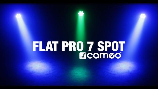 Cameo FLAT PRO 7 SPOT - Compact, flat 7 x 15 Watt Quad LED PAR spot