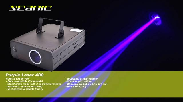 Scanic Purple Laser 400