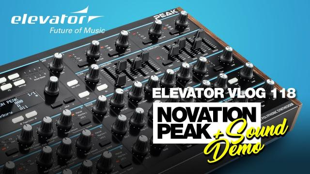 Novation Peak - Synthesizer - Test & Sound Demo (Elevator Vlog 118 deutsch)