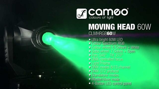 Cameo Light MOVING HEAD 60 - LED Moving Head RGB 60 W