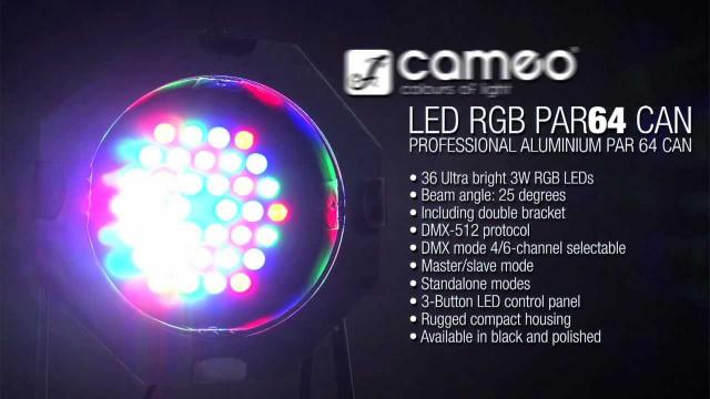 Cameo Light PAR 64 CAN - 36 x 3 W LED PAR Can RGB