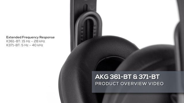 AKG K361-BT and K371-BT Headphones Overview