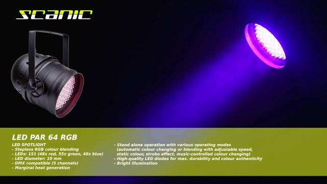 Scanic LED PAR 64 RGB