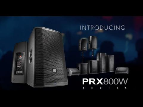 Introducing the PRX800W Series Portable PA with Wireless App Control