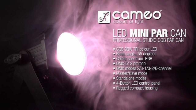 Cameo Light STUDIO MINI PAR CAN COB - 30 W COB LED PAR CAN RGB in Black