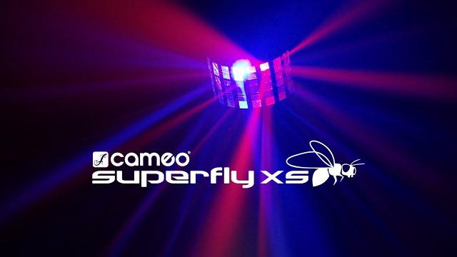 Cameo SUPERFLY XS - 2-in-1 Derby Effect and Strobe incl. IR-Remote